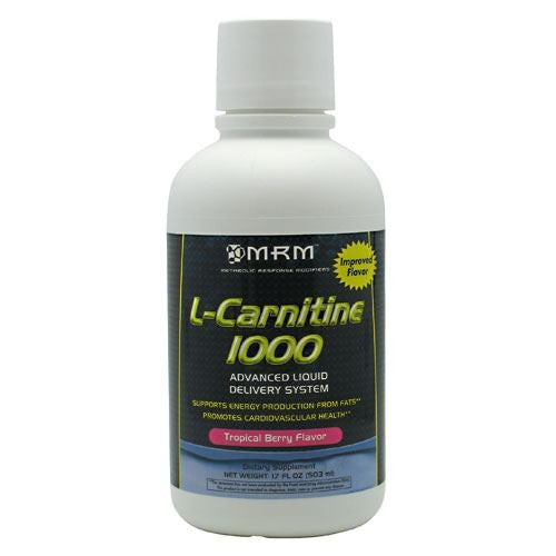 MRM L-Carnitine 1000 - Tropical Berry Flavor - 17 fl oz - 609492722133