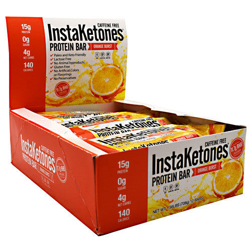 Julian Bakery InstaKetones Protein Bar - Orange Burst - 12 Bars - 813926004430