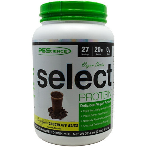 PEScience Vegan Series Select Protein - Indulgent Chocolate Bliss - 2 lb - 040232199882
