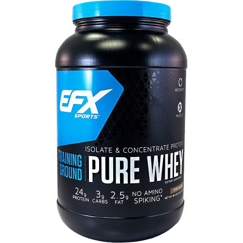 EFX Sports EFX Sports Training Ground Pure Whey - Chocolate - 38.4 oz - 737190002902