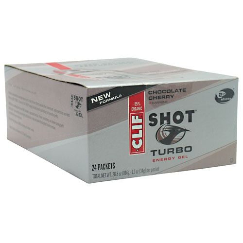 Clif Shot Turbo Energy Gel - Chocolate Cherry - 24 Packets - 722252276254
