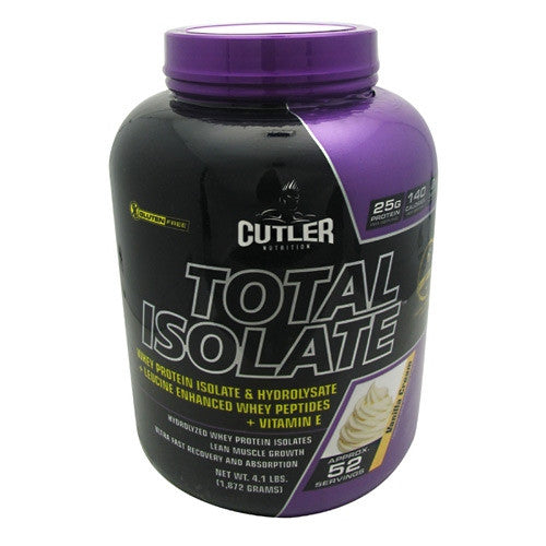 Cutler Nutrition Total Isolate - Vanilla Cream - 52 Servings - 810150021288