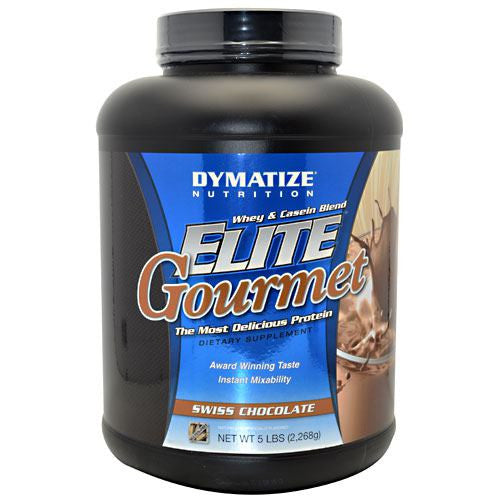 Dymatize Elite Gourmet Whey & Casein Blend - Swiss Chocolate - 5 lb - 705016433551