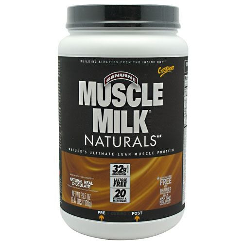 CytoSport Natural Muscle Milk - Real Chocolate - 2.48 lb - 660726504703