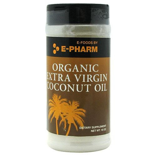 E-Pharm Organic Extra Virgin Coconut Oil - 16 oz - 733428007114