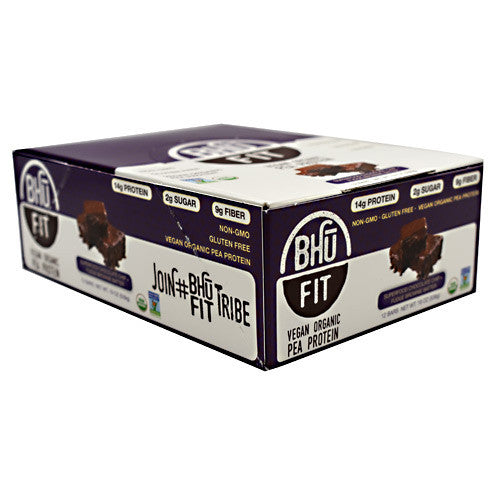 BHU Foods Vegan BHU Fit Bar - Superfood Chocolate Chip + Fudge Brownie Batter - 12 Bars - 858087006138