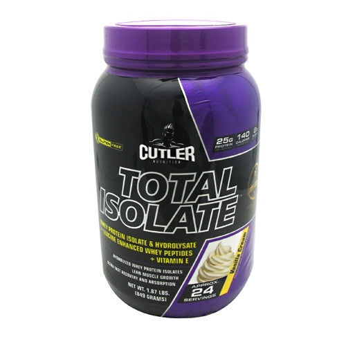 Cutler Nutrition Total Isolate - Vanilla Cream - 24 Servings - 810150021257