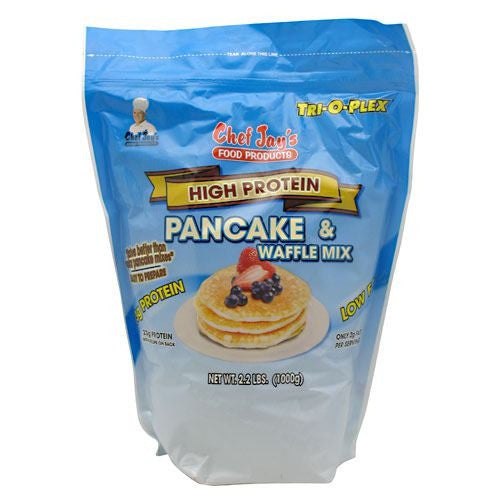 Chef Jays Tri-O-Plex High Protein Pancake & Waffle Mix - 2.2 lb - 678991301002