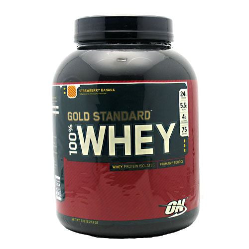 Optimum Nutrition Gold Standard 100% Whey - Strawberry Banana - 5 lb - 748927029864