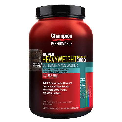 Champion Nutrition Super Heavyweight Gainer 1200 - Chocolate Brownie - 6.6 lb - 027692120809