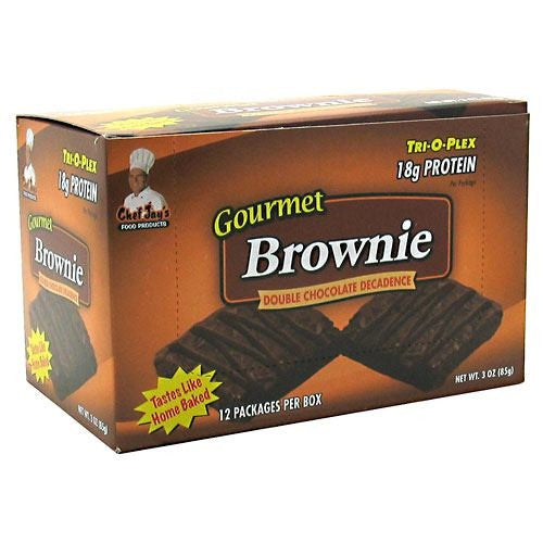Chef Jays Tri-O-Plex Gourmet Brownie - Double Chocolate Decadence - 12 Packages - 678991252106