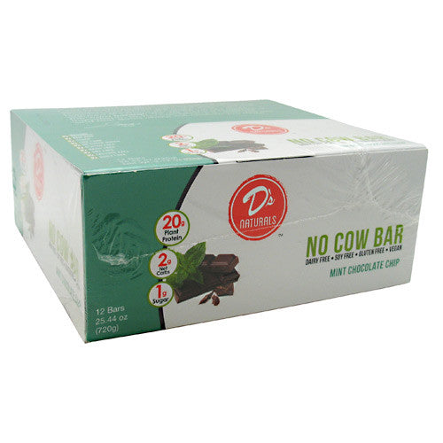 Ds Naturals No Cow Bar - Mint Chocolate Chip - 12 Bars - 852346005061