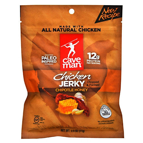 Caveman Foods Chicken Jerky - Chipotle Honey - 2.5 oz - 853385003988