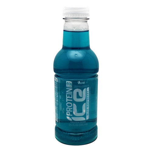 ANSI Protein Ice - Blue Raspberry - 12 Bottles - 689570404267