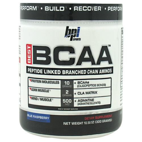 BPI Best BCAA - Blue Raspberry - 30 Servings - 851780006320