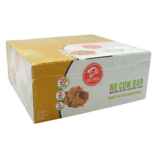 Ds Naturals No Cow Bar - Peanut Butter Cookie Dough - 12 Bars - 852346005078