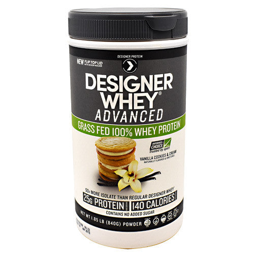 Designer Protein Advanced Designer Whey - Vanilla Cookies & Cream - 1.85 lb - 844334011062