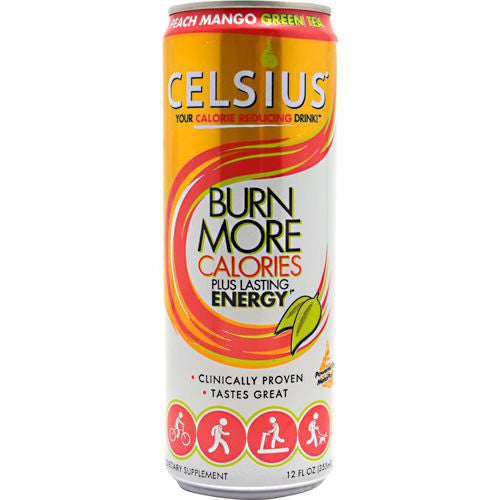 Celsius Celsius - Peach Mango Green Tea - 12 Cans - 889392010558