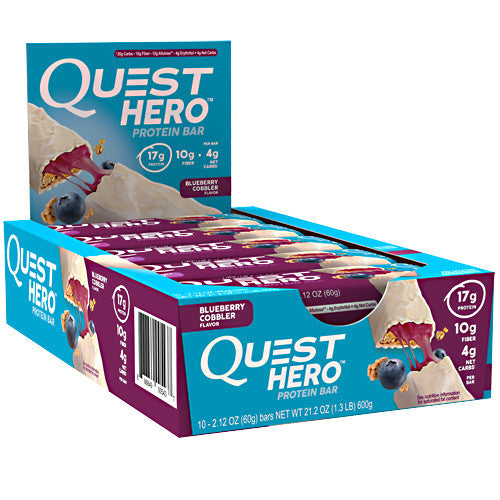 Quest Nutrition Hero Bar - Blueberry Cobbler - 10 Bars - 888849005437