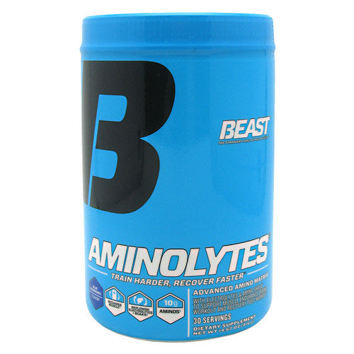 Beast Sports Nutrition Aminolytes - Blue Raspberry - 30 Servings - 631312804217