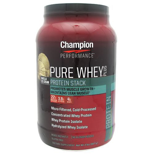 Champion Nutrition Pure Whey Plus - Vanilla Ice Cream - 2 lb - 027692204929