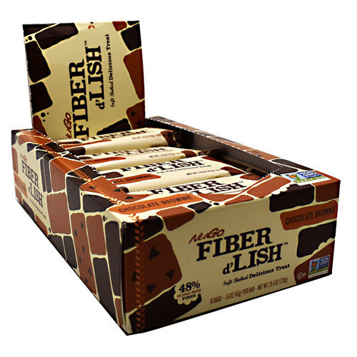 NuGo Nutrition Fiber dLish - Chocolate Brownie - 16 Bars - 187471000170