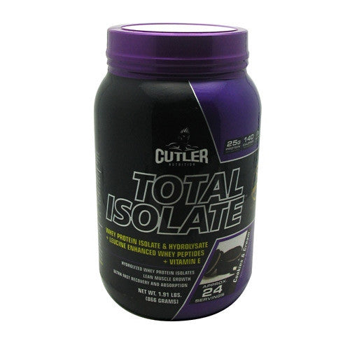 Cutler Nutrition Total Isolate - Cookies & Cream - 24 Servings - 810150021264