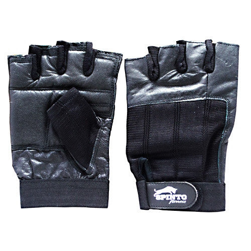 Spinto Mens Workout Gloves - Black (LG) -   - 636655966158