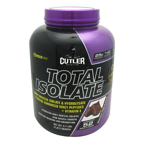 Cutler Nutrition Total Isolate - Chocolate Fudge Brownie - 52 Servings - 810150021301