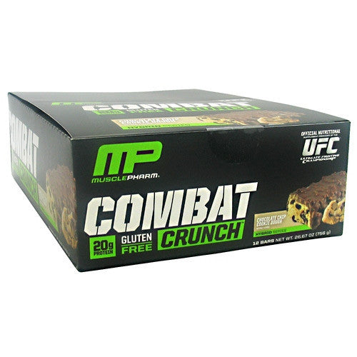 Muscle Pharm Hybrid Series Combat Crunch - Chocolate Chip Cookie Dough - 12 Bars - 713757372237