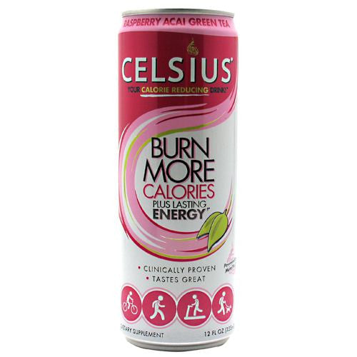 Celsius Celsius - Raspberry Acai Green Tea - 12 Cans - 889392010565