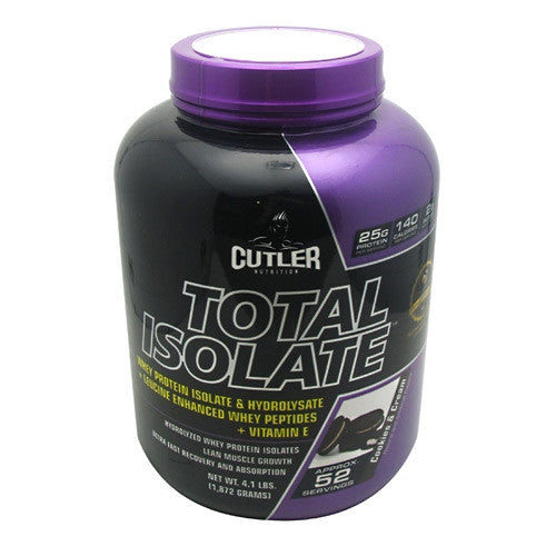 Cutler Nutrition Total Isolate - Cookies & Cream - 52 Servings - 810150021295