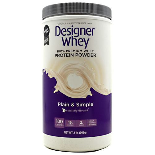 Designer Protein Designer Whey - Plain & Simple - 2 lb - 844334001353