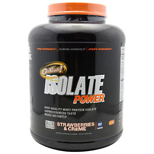 ISS OhYeah! Isolate Power - Strawberries & Creme - 4 lb - 788434109659