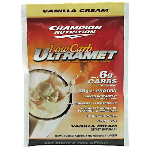 Champion Nutrition Low Carb Ultramet - Vanilla Cream - 60 Packets - 027692132505