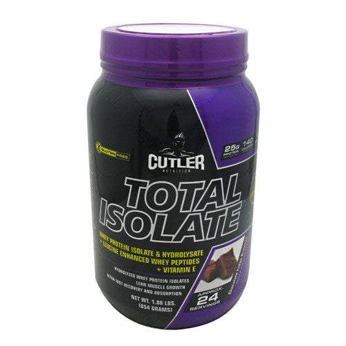 Cutler Nutrition Total Isolate - Chocolate Fudge Brownie - 24 Servings - 810150021271
