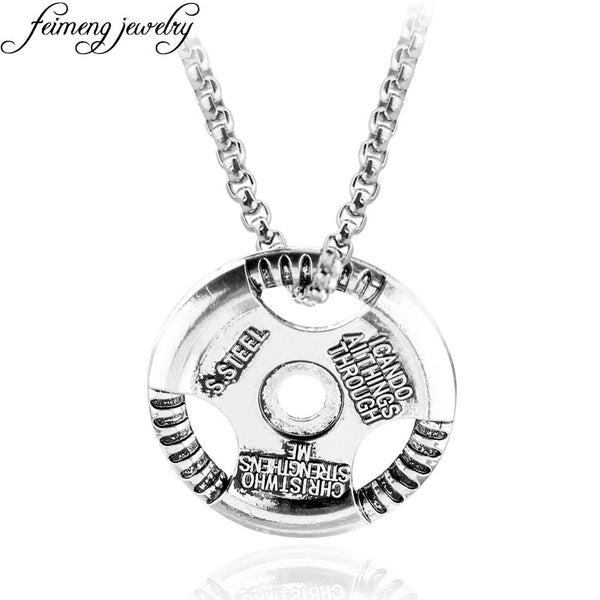 Fitness Necklace for Men Bodybuilding Pendant