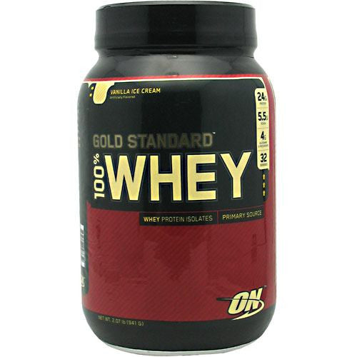 Optimum Nutrition Gold Standard 100% Whey - Vanilla Ice Cream - 2 lb - 748927028652