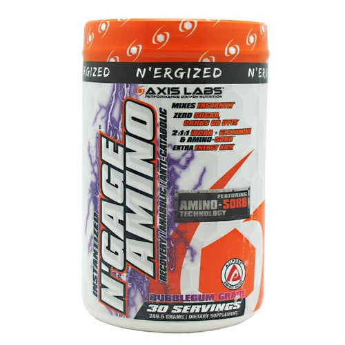 Axis Labs NErgized NGage Amino - Bubblegum Grape - 30 Servings - 689076958806