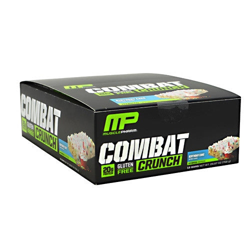 Muscle Pharm Hybrid Series Combat Crunch - Birthday Cake - 12 Bars - 748252105479