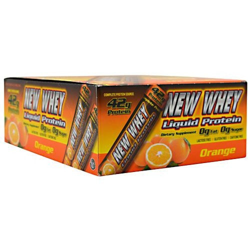 New Whey Nutrition New Whey Liquid Protein - Orange - 12 ea - 675941001524