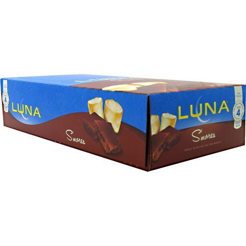 Clif Luna The Whole Nutrition Bar for Women - SMores - 15 Bars - 722252203403