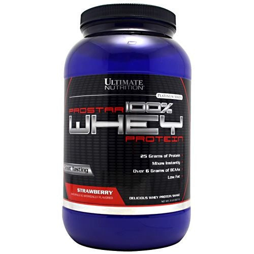 Ultimate Nutrition ProStar Whey Protein - Strawberry - 2 lb - 099071001474