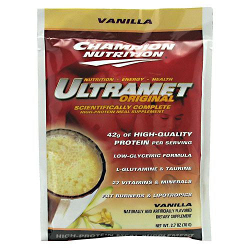 Champion Nutrition Ultramet Original - Vanilla - 60 Packets - 027692130600