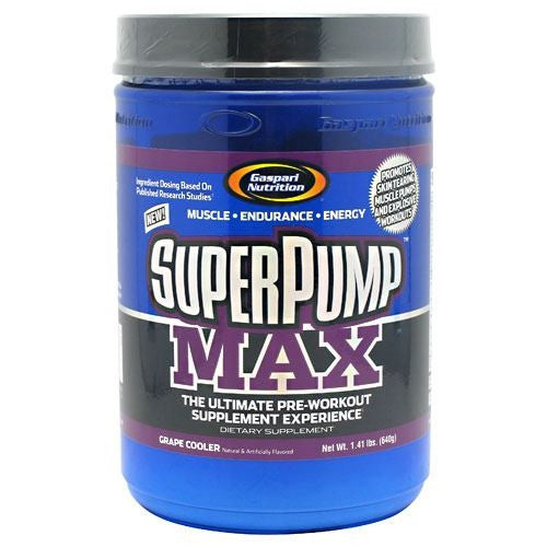 Gaspari Nutrition SuperPump MAX - Grape Cooler - 40 Servings - 646511007277