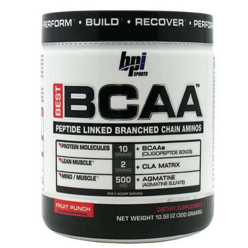 BPI Best BCAA - Fruit Punch - 30 Servings - 851780006306