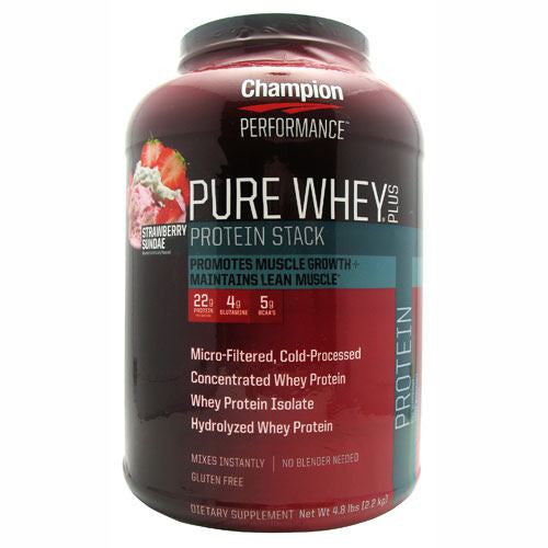 Champion Nutrition Pure Whey Plus - Strawberry Sundae - 4.8 lb - 027692114891