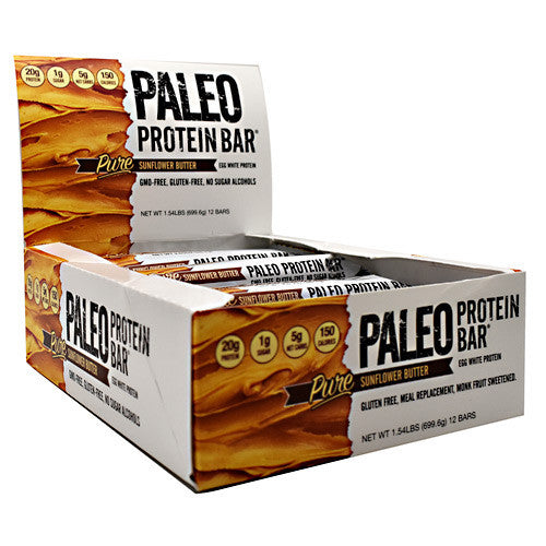 Julian Bakery Paleo Protein Bar - Pure Sunflower Butter - 12 Bars - 813926003778