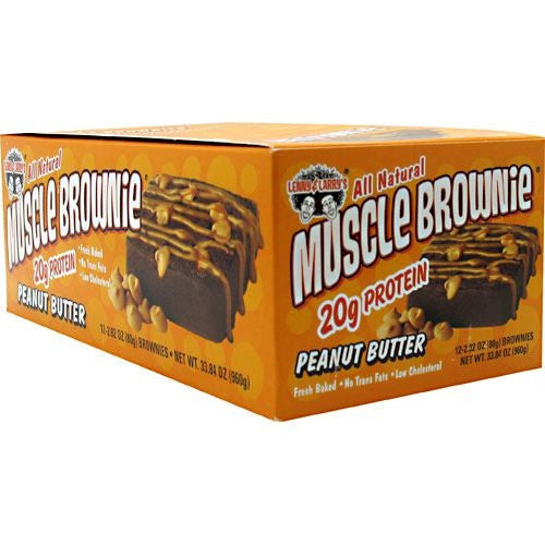 Lenny & Larrys Muscle Brownies - Peanut Butter - 12 ea - 787692835171
