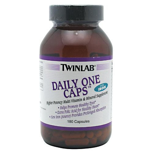 TwinLab Daily One Caps with Iron - 180 Capsules - 027434002851
